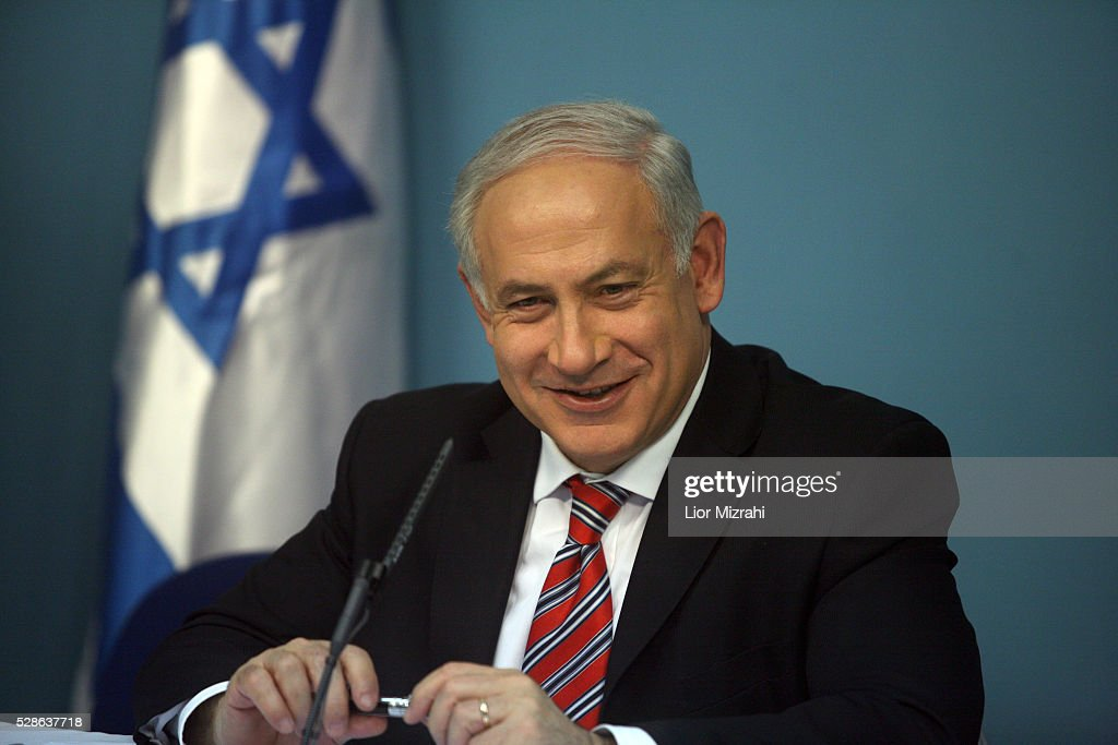 Israeli Prime Minister Benjamin Netanyahu smiles during a press conference on February 22, 2010 in Jerusalem, Israel.