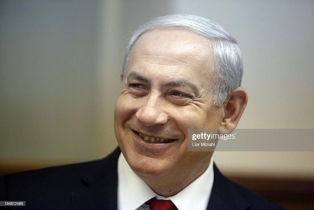 Israeli Prime Minister Benjamin Netanyahu Attends Weekly Cabinet Meeting