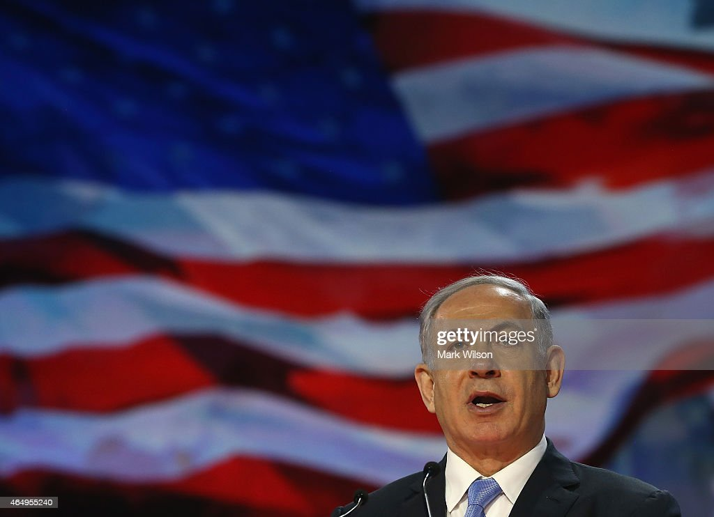Israeli Prime Minister Benjamin Netanyahu speaks during the American Israel Public Affairs Committee (AIPAC) 2015 Policy Conference, March 2, 2015 in Washington, DC. Tomorrow March 3rd Prime Minister Netanyahu is scheduled to address a joint session of the US Congress.
