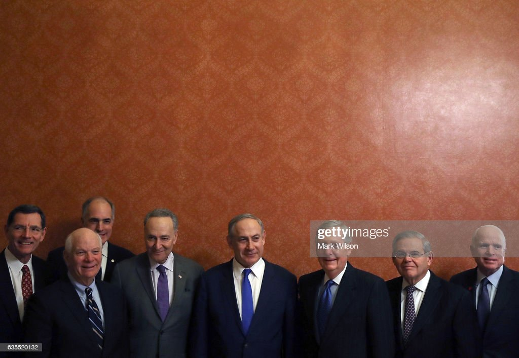 Senate Majority Leader McConnell And Sen. Minority Leader Schumer Meet With Israeli Prime Minister Netanyahu
