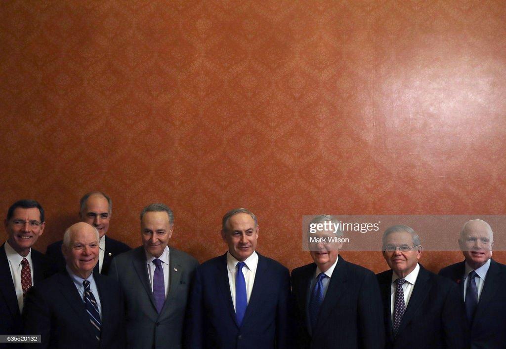 Senate Majority Leader McConnell And Sen. Minority Leader Schumer Meet With Israeli Prime Minister Netanyahu