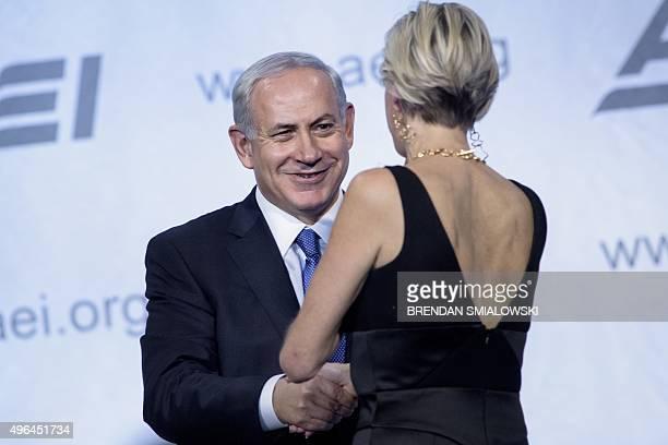 Israeli Prime Minister Benjamin Netanyahu thanks Danielle Pletka American Enterprise Institute Senior Vice President Foreign and Defense Policy...