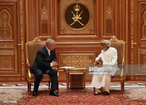 Israeli Prime Minister Binyamin Netanyahu attends a meeting with Sultan of Oman Sayyid Qaboos bin Said Al Said in Muscat, Oman on October 26, 2018.