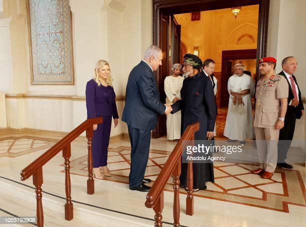 Israeli Prime Minister Binyamin Netanyahu attends a meeting with Sultan of Oman Sayyid Qaboos bin Said Al Said in Muscat Oman on October 26 2018