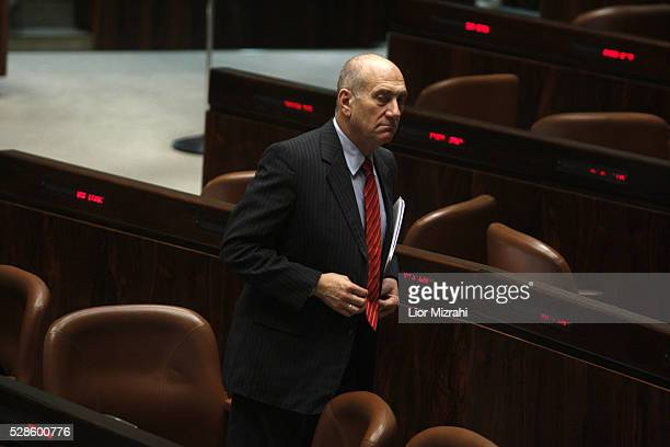 Israeli Prime Minister Ehud Olmert is seen during a session of the Knesset on March 30, 2009 in Jerusalem, Israel.