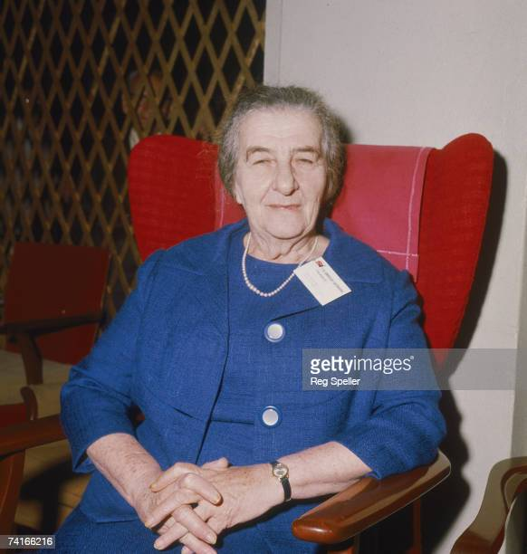 Israeli Prime Minister Golda Meir at the Socialist International Congress in Eastbourne Sussex 16th June 1969
