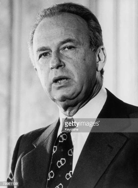 Israeli Prime Minister Yitzhak Rabin , circa 1977.