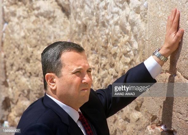 Israeli Prime Minister-elect leader Ehud Barak prays at Jerusalem's Old City Western Wall 18 May 1999, a day after his landslide victory over...