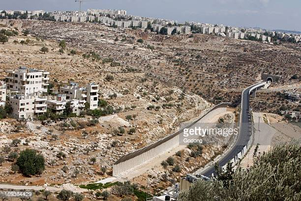 Israeli road in the West Bank Occupied Palestinian Territory