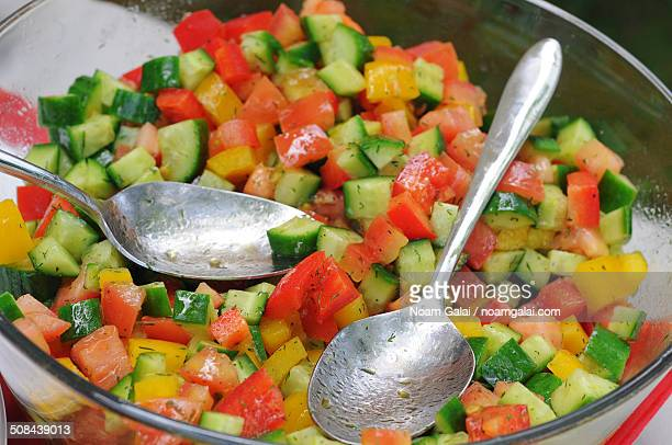 israeli salad - noam galai stock pictures, royalty-free photos & images