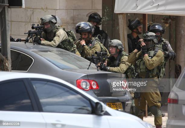 Israeli security forces intervene Palestinian protestors during a protest organized to mark 70th anniversary of Nakba also known as Day of the...