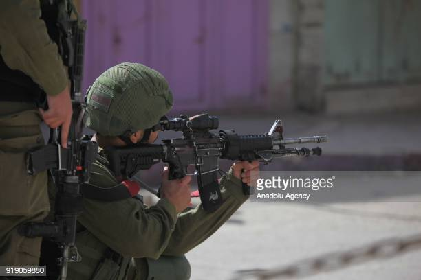 Israeli security forces intervene Palestinians protesting against US decision to recognize Jerusalem as Israel's capital in Hebron West Bank on...