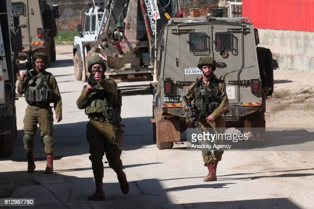 Israeli security forces intervene protesters during a demonstration held after bulldozers of Israeli army demolished a house under construction...