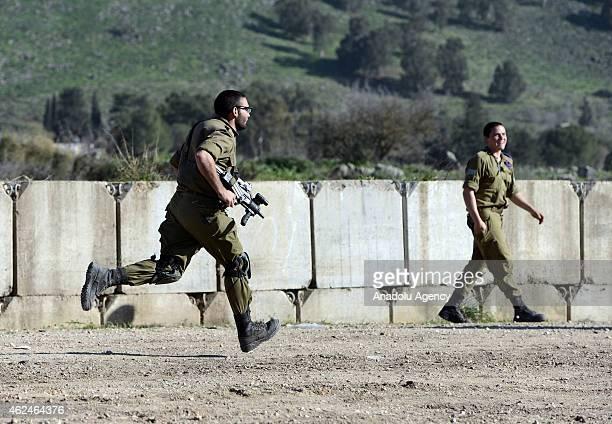 Israeli security forces take security measures against possible attacks near HaGoshrim dwelling unit in Kiryat Shmona, Israel on January 29, 2015....