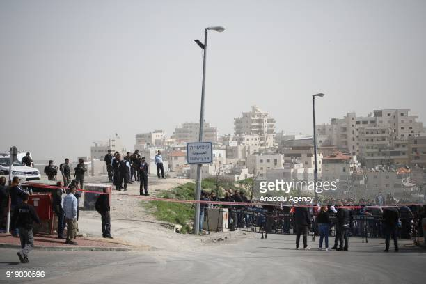 Israeli security forces take security measures as Palestinians perform a Friday Prayer to protest Israeli authorities' mass retribution enforcements...