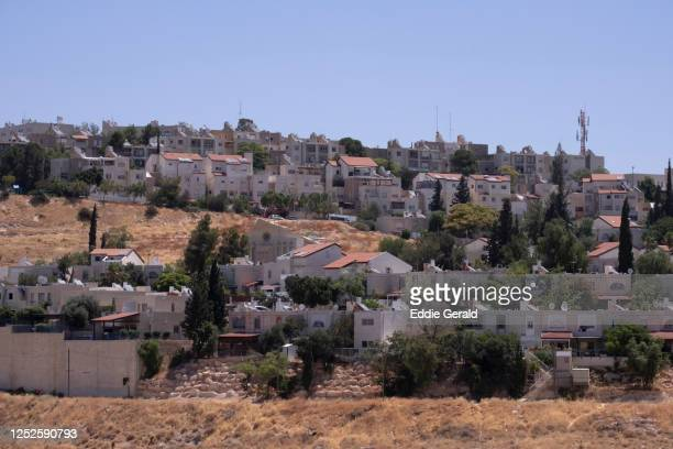 israeli settlements in the west bank - human settlement stock pictures, royalty-free photos & images