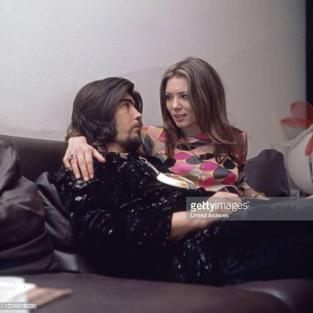 Israeli singer Abi Ofarim and German actress Iris Berben, Germany, 1960s.