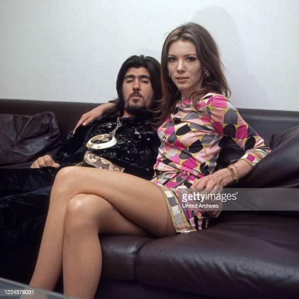 Israeli singer Abi Ofarim and German actress Iris Berben Germany 1960s