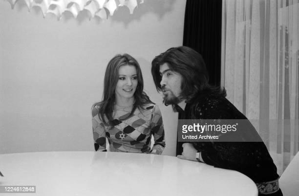 Israeli singer Abi Ofarim and German actress Iris Berben, Germany, 1970s.