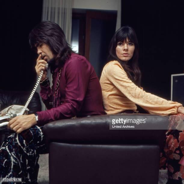 Israeli singer Abi Ofarim and singer Susan Aviles Germany 1960s