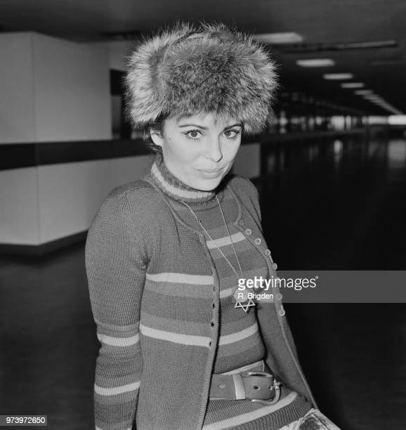 Israeli singer and actress Daliah Lavi pictured at Heathrow airport in London on 13th January 1972