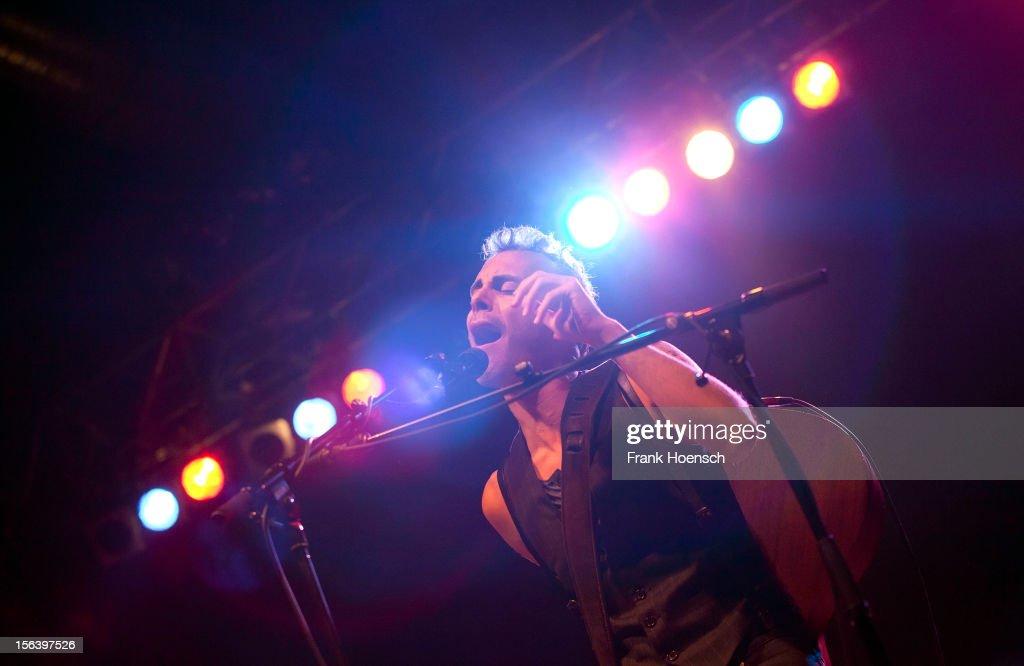 Israeli singer Asaf Avidan performs live during a concert at the Huxleys on November 14, 2012 in Berlin, Germany.