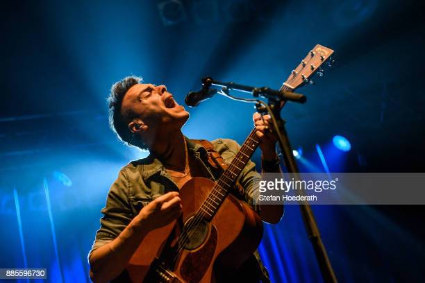 Israeli singer Asaf Avidan performs live on stage during a concert at Huxleys Neue Welt on December 4 2017 in Berlin Germany