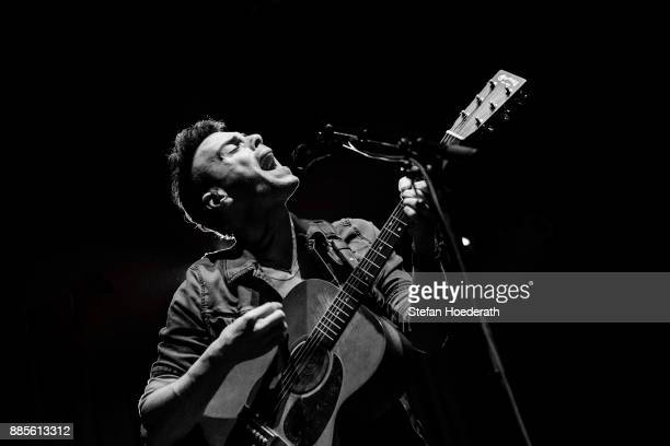 Israeli singer Asaf Avidan performs live on stage during a concert at Huxleys Neue Welt on December 4, 2017 in Berlin, Germany.