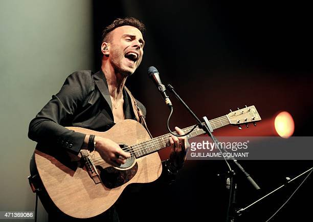 Israeli singer Asaf Avidan performs on stage as part of the 39th edition of Le Printemps de Bourges rock and pop music festival in Bourges on april...