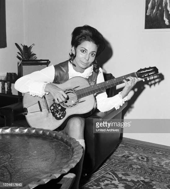 Israeli singer Carmela Corren, Germany, 1960s.