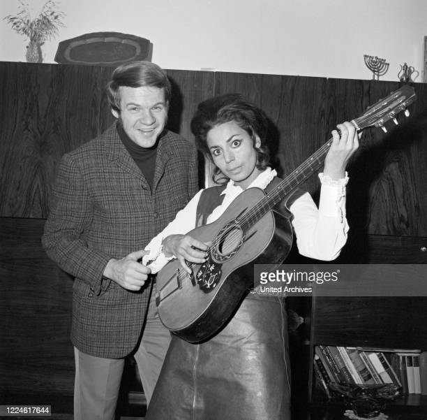 Israeli singer Carmela Corren with husband Horst Geiger, Germany, 1960s.