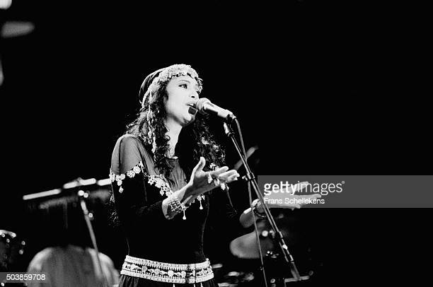Israeli singer Ofra Haza performs on June 16th 1996 at the Concertgebouw in Amsterdam the Netherlands