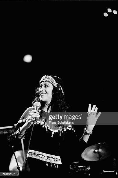 Israeli singer Ofra Haza performs on June 16th 1996 at the Concertgebouw in Amsterdam, the Netherlands.