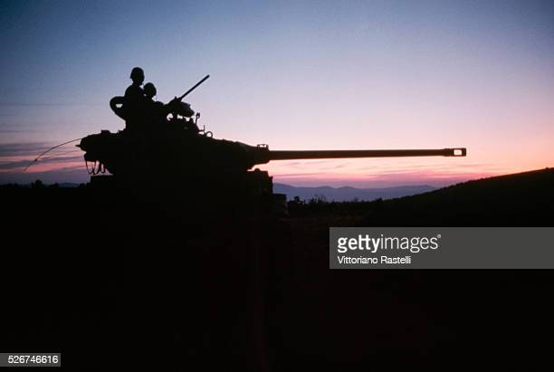 Israeli soldiers in a tank during the SixDay War By June 10 when the fighting was halted Israel controlled the entire Sinai Peninsula and all...