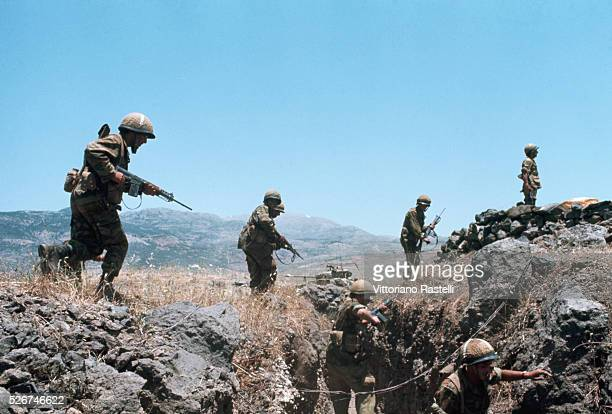 Israeli soldiers in a trench during the SixDay War By June 10 when the fighting was halted Israel controlled the entire Sinai Peninsula and all...