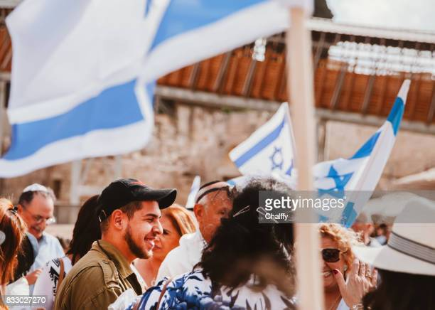 israeli soldiers in jerusalem - israeli ethnicity stock pictures, royalty-free photos & images