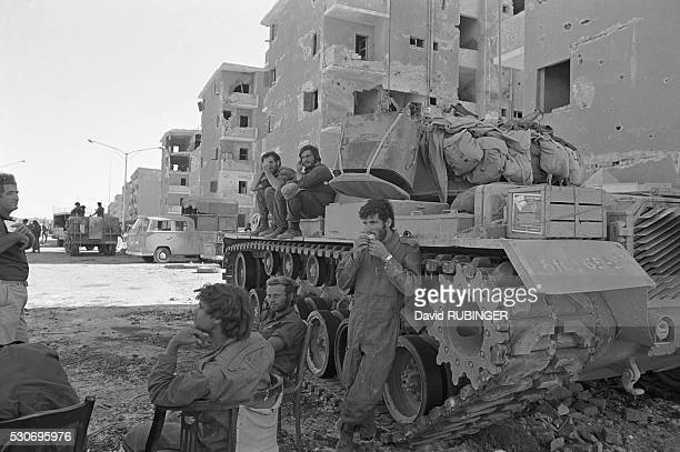 Israeli soldiers in the Egyptian city of Suez during the Yom Kippur War