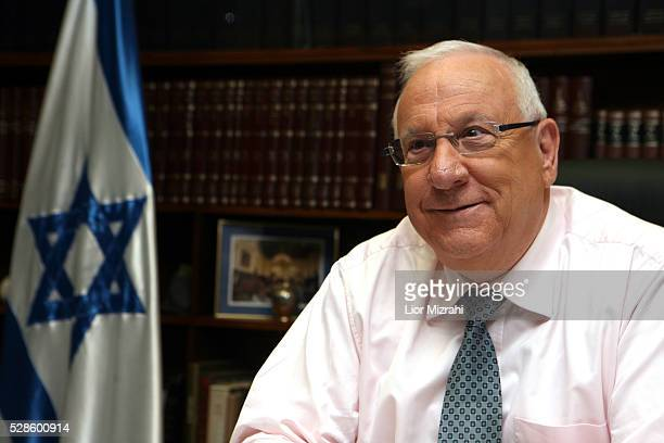 Israeli Speaker of the Knesset Reuven Rivlin speaks during an interview on January 24, 2010 in Jerusalem, Israel.