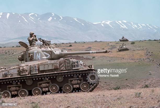 Israeli tanks advance into Syria during the SixDay War By June 10 when the fighting was halted Israel controlled the entire Sinai Peninsula and all...