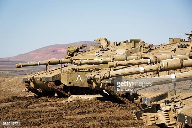 Israeli tanks on Syrian border