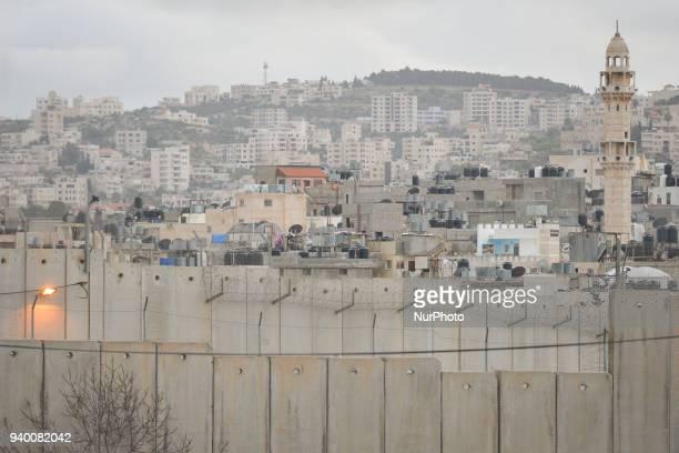 Israeli West Bank barrier in Bethlehem Tuesday 13 March 2018 in Bethlehem Palestine