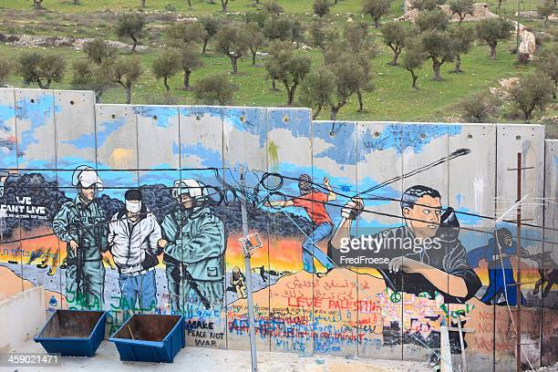 israeli west bank barrier - palestinian stock pictures, royalty-free photos & images