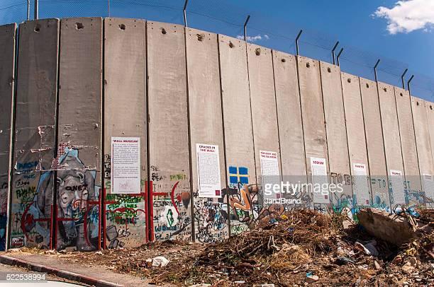 israelí barrera de cisjordania - cultura palestina fotografías e imágenes de stock