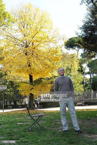Israeli writer David Grossman at Villa Borghese in Rome for the presentation of the movie based on his book 'Someone to run with'. Novelist and...