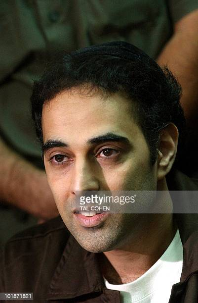 Israeli Yigal Amir assassin of former Israeli Prime Minister Yitzhak Rabin sits in a courtroom prior to his hearing in request from the Prisons...