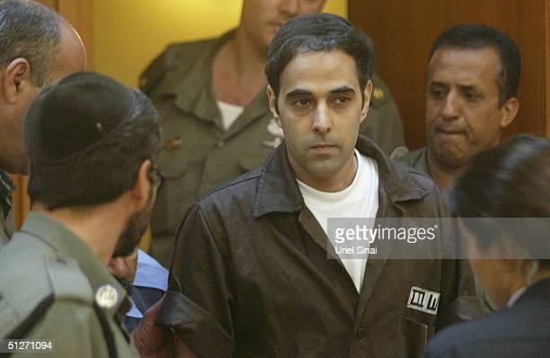 Israeli Yigal Amir, Prime Minister Yitzhak Rabin's assassin, appears before the Israeli Supreme Court in Jerusalem on September 8, 2004. Yigal Amir...