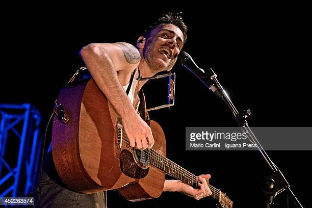 Israelian author and musician Asaf Avidan performs at Botanique on July 07, 2014 in Bologna, Italy.