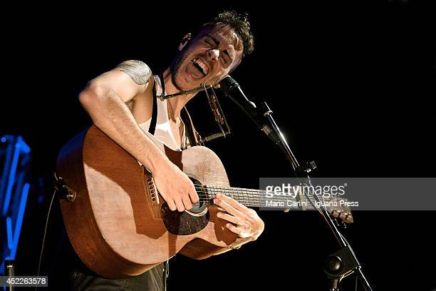 Israelian author and musician Asaf Avidan performs at Botanique on July 07 2014 in Bologna Italy
