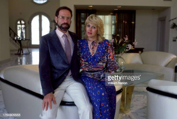 Israeliborn American technology entrepreneur founder and Chief Executive of Monolithic Memories Ze'ev Drori poses for a portrait with his wife circa...