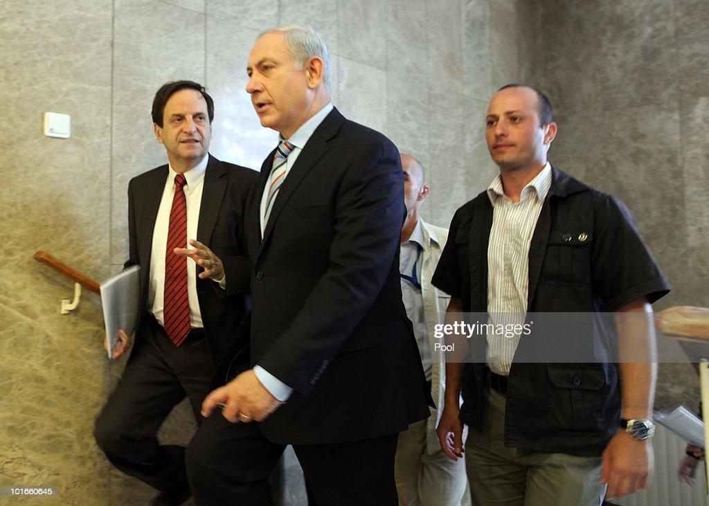 Israeli Prime Minister Benjamin Netanyahu Cabinet Meeting In Jerusalem : Nachrichtenfoto
